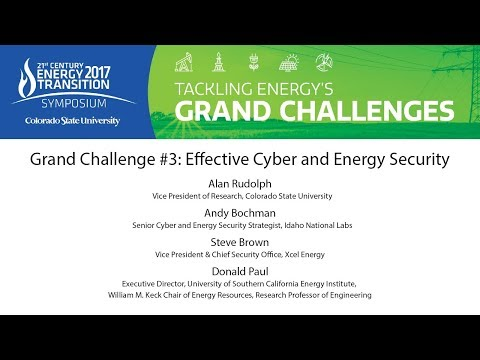 Grand Challenge #3 Effective Cyber and Energy Security