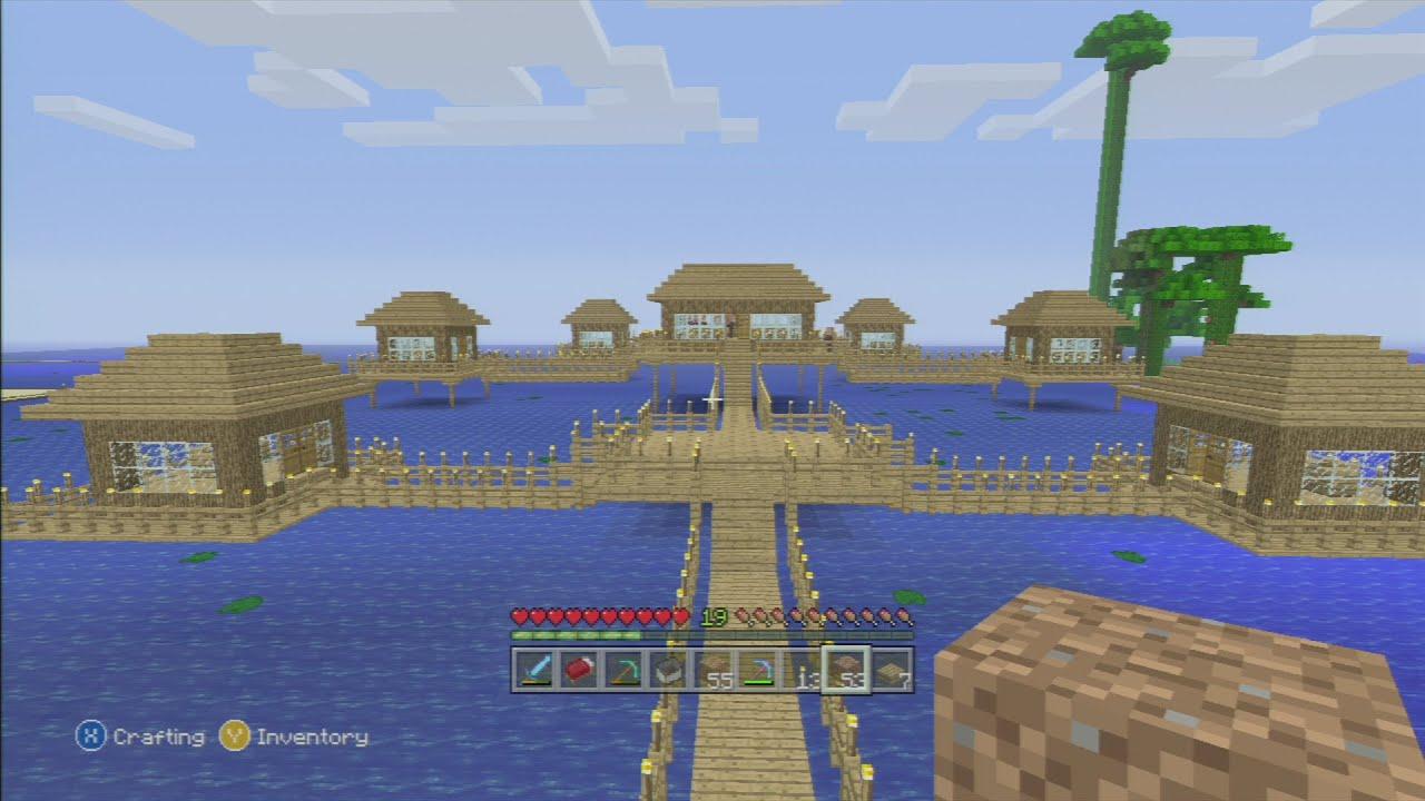 Minecraft xbox 360 fishing village survival - YouTube