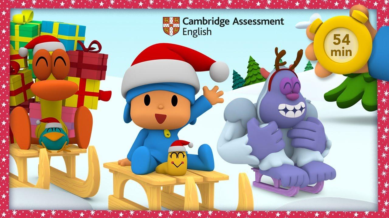 ☃️POCOYO & NINA APRENDE INGLÉS con Cambridge: White Christmas 54 min |CARICATURAS y DIBUJOS ANIMADOS