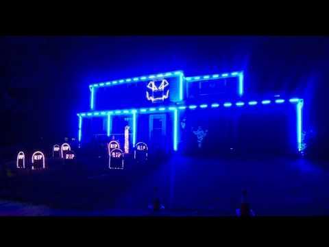 Halloween Light Show 2015 - Ghostbusters by Kidz Bop
