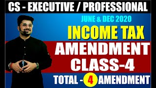 AMENDMENT CLASS   4 INCOME TAX by CA VIVEK GABA I JUNE & DEC 2020 I TAX LOVE