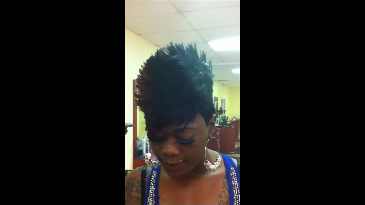 Brandy Tapered Mohawk Quick Weave Spiked Stylist Marvin
