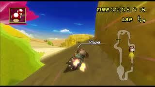 [Mario Kart Wii TAS] Dry Dry Ruins 1st Lap 33.710 (Super Grinding)