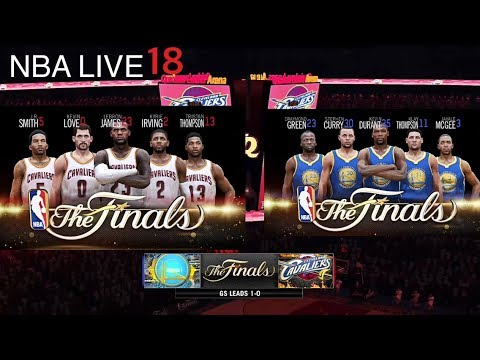 NBA LIVE 18 17 NBA Finals - Cleveland Cavaliers Vs Golden State Warriors   GSW Lead 1-0 - YouTube