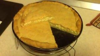 Луковый пирог. Никто не догадается, что пирог из лука. Невероятная вкуснятина! Очень легкий рецепт.