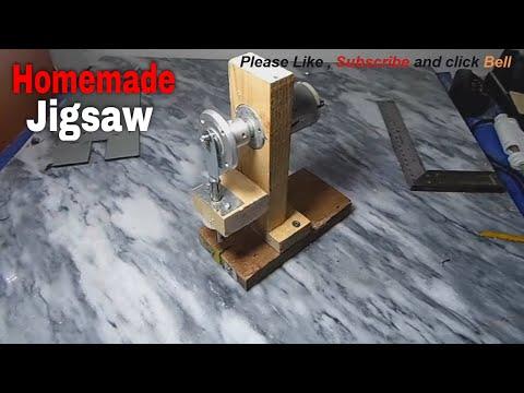 how to make jigsaw machine - homemade jigsaw machine