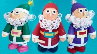 Paper quilling | how to make 3D Quilling Santa - Happy Merry Christmas Special Tutorial