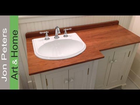 how to make a wooden vanity top countertop