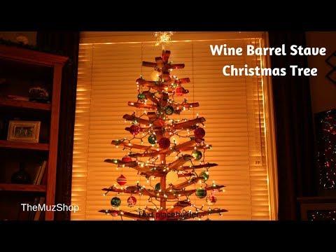 DIY Christmas Tree: Wine Barrel Staves