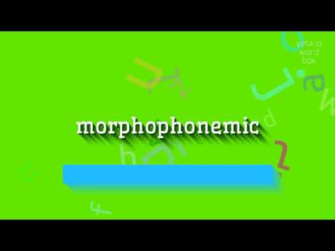 "How to say ""morphophonemic""! (High Quality Voices)"
