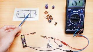 На сколько сильно может увеличить напряжение обычная катушка, питаемая от одной батарейки на 1,5 В