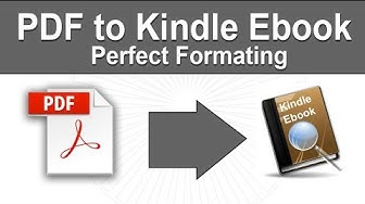 How to convert pdf to Kindle epub or Mobi Ebook without losing format