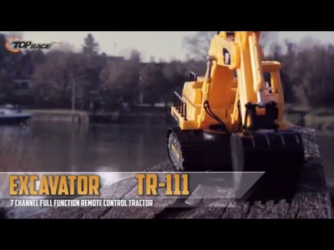 Top Race 7 Channel Full Functional RC Excavator, With Lights & Sound (TR-111)