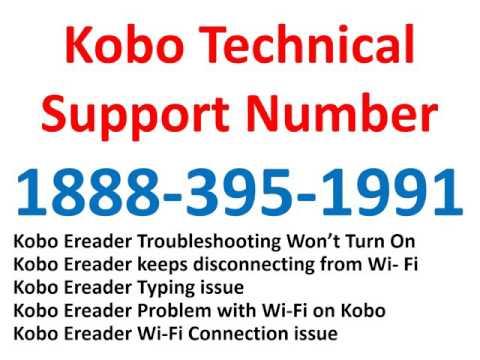 Kobo Ereader Support 1-888-395-1991 Helpline Phone  Number