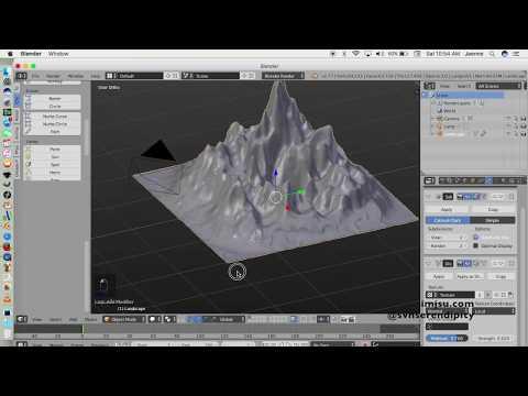 Tsunami Wave in Blender 3d Pt.1 (The Landscape)