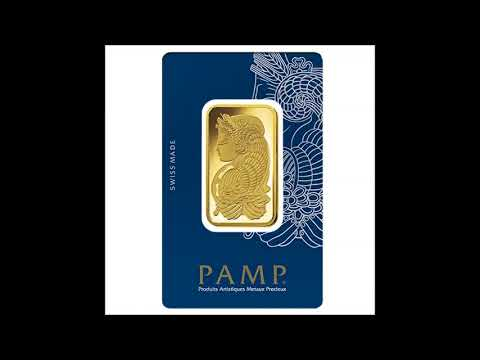 1 oz Gold Bar PAMP Suisse Lady Fortuna Veriscan  9999 Fine In Assay