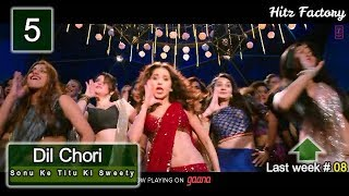 Top 10 Bollywood songs of the week Jan 22nd - 26th | 2018 | weekly Hindi top chart