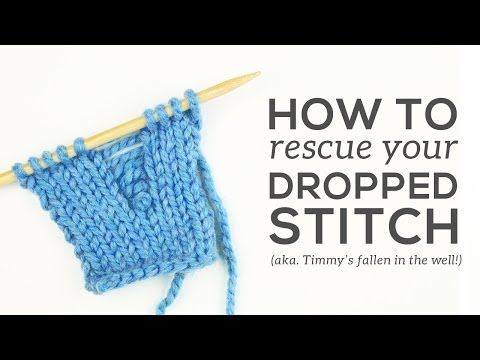 How to Fix a DROPPED STITCH