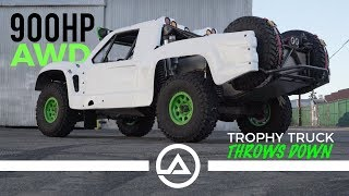 900HP AWD Trophy Truck throws down