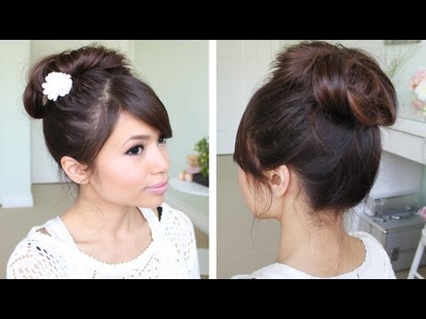 messy-hair-bun-without-using-bobby-pins-|-hair-tutorial