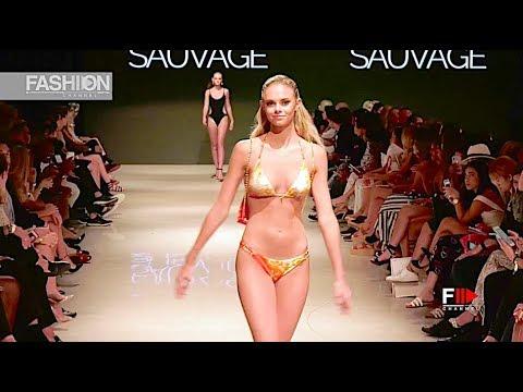 74526b86bb SAUVAGE SWIMWEAR Art Hearts Fashion Beach Miami Swim Week 2018 SS 2019 -  Fashion Channel