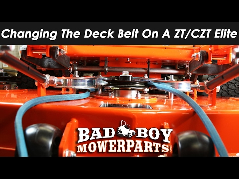 Changing The Deck Belt On ZT/CZT Elite - YouTube on