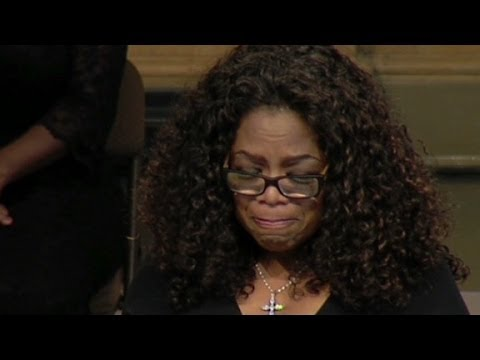 Oprah tears up remembering Maya Angelou