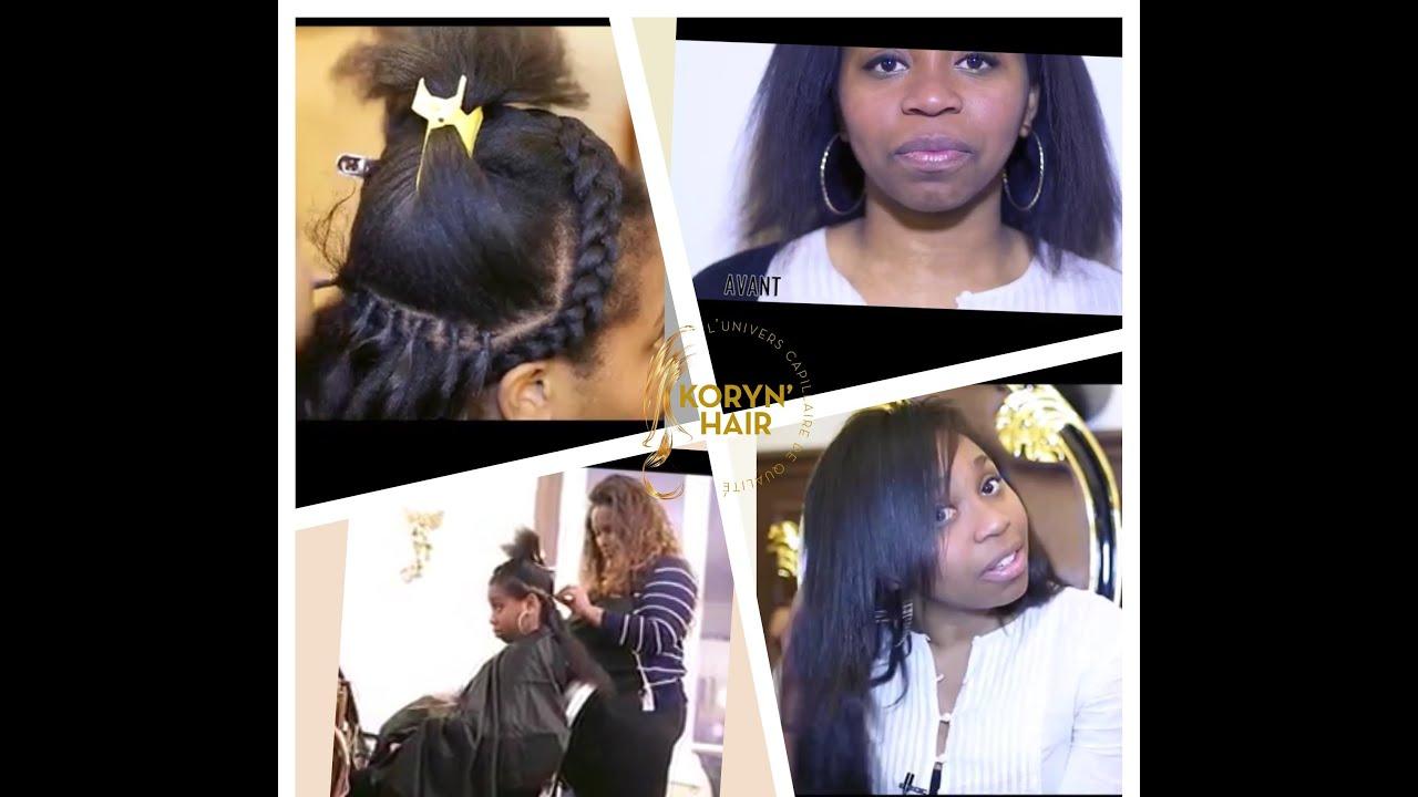 extensions au fil en kinky lisse relooking koryn hair n 7 youtube. Black Bedroom Furniture Sets. Home Design Ideas
