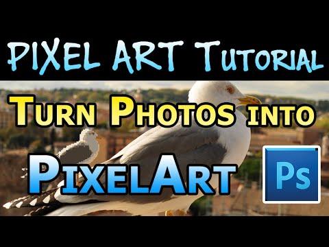 Pixel Art Tutorial - Turn Photos into Pixel Art in Photoshop