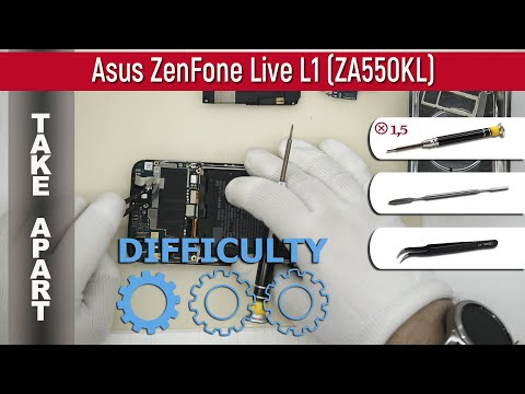 How to disassemble 📱 Asus ZenFone Live L1 (ZA550KL) Take apart Tutorial