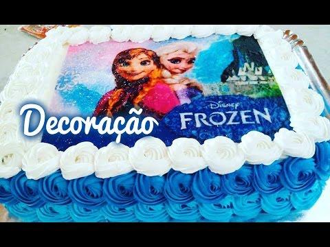 Bolo Frozen (Elsa e Ana) Decoração passo a passo #Culinária com Angelica Mendes