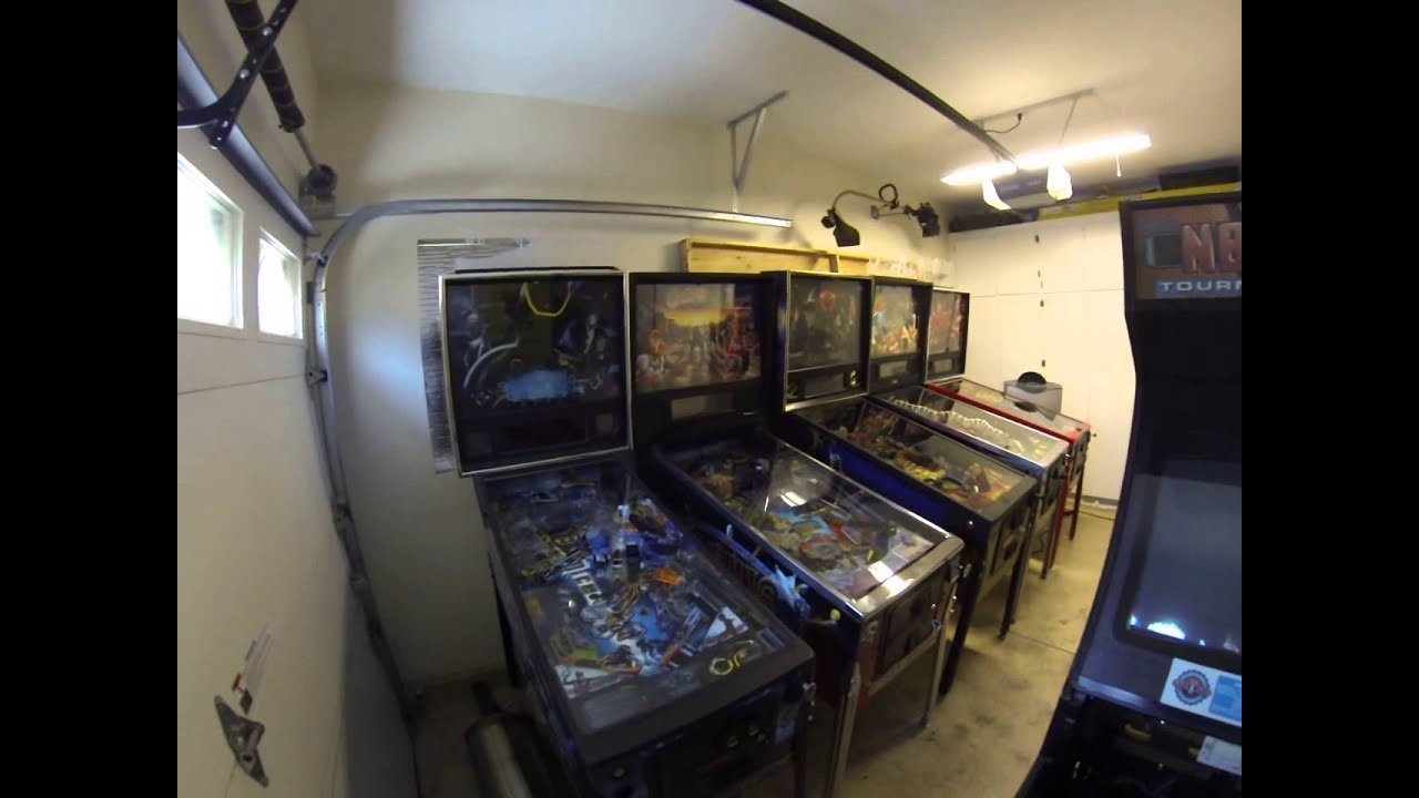 Cur Climate Controlled Garage Pinball Arcade Room
