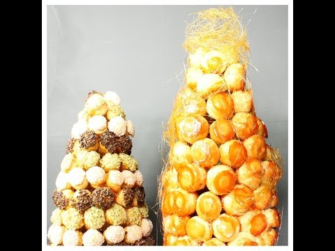 Croquembouche - Croque-en-Bouche - Cream Puffs Cake - Showpiece - Recipe - Pastry Classes