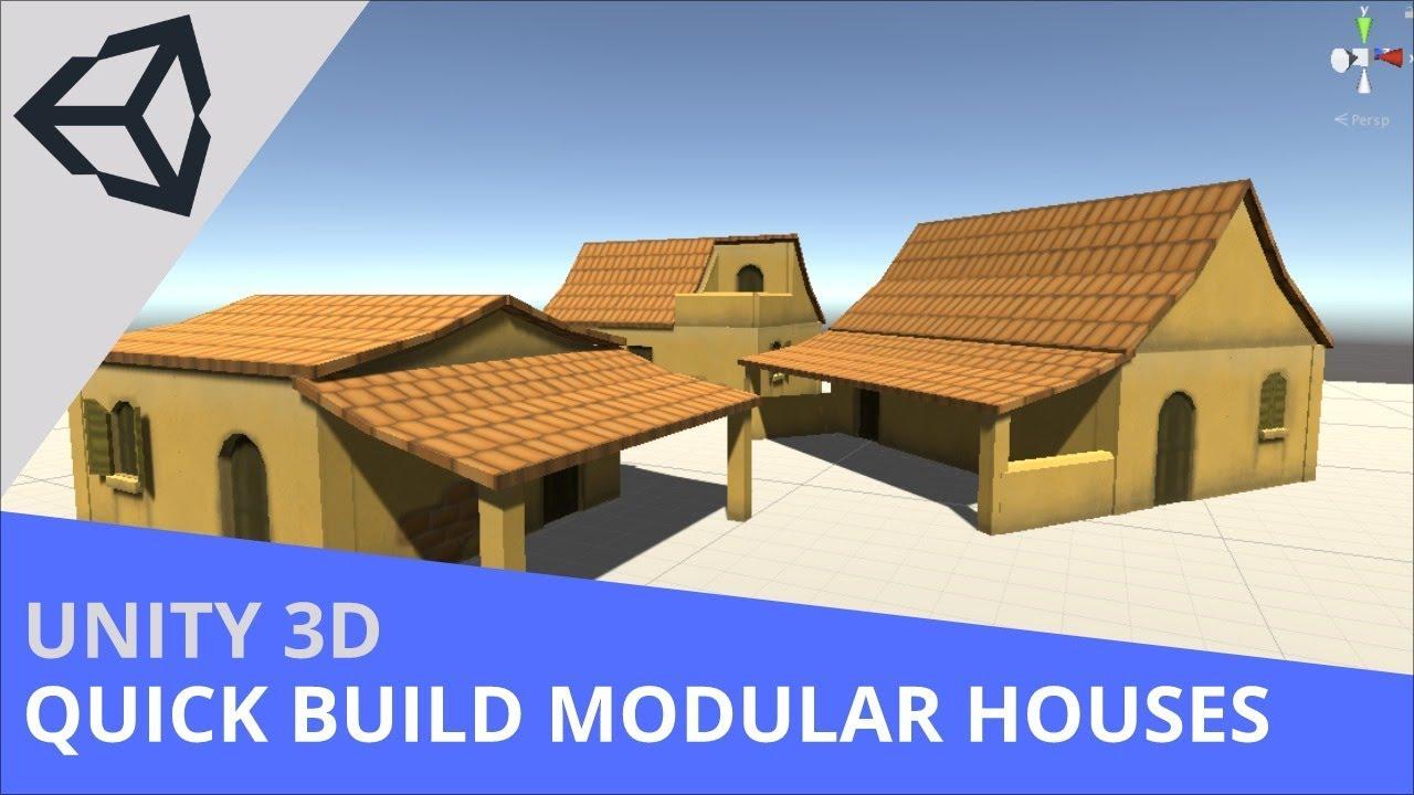 Unity3D - Building Modular Houses (Very fast method!)