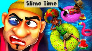 SLIME TIME! SCARY ROBBER HOME CLASH! NEW LEVEL! Gameplay - Walkthrough [Android - IOS]