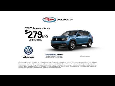 It's Best To Buy at Byers Volkswagen | October 2019 (YouTube)