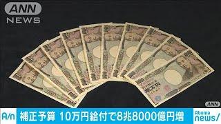 一律10万円給付で8兆8800億円の歳出増 補正予算案(20/04/20)