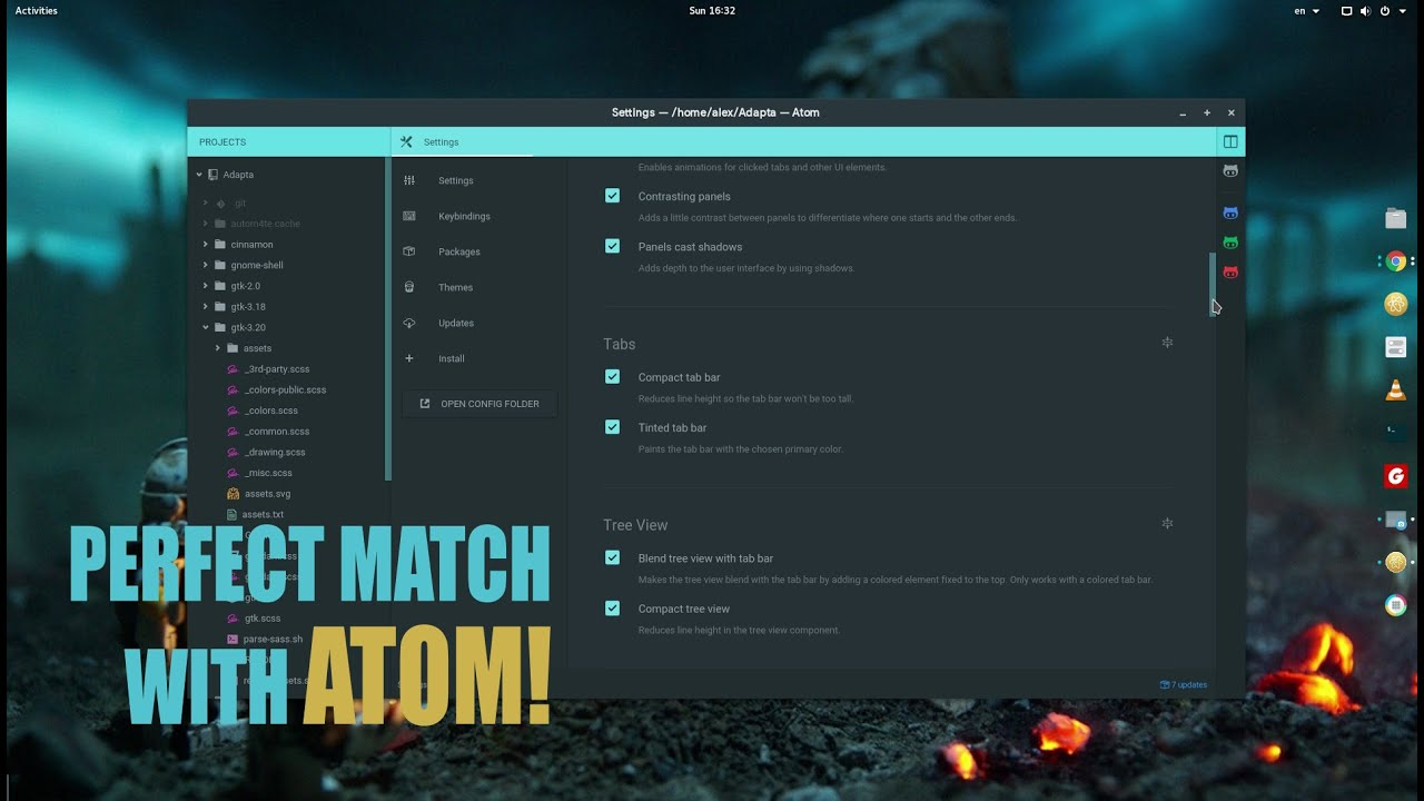Adapta - Material Design Theme for GNOME 3 20 - Best Theme Since March 1999  :p