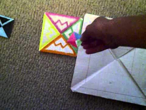 how to make a spinner out of paper