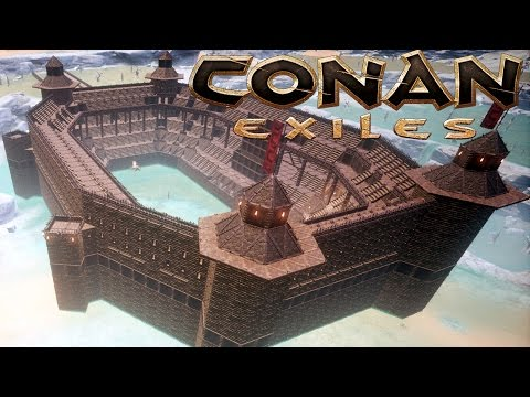 THE COLISEUM | Let's Play Conan Exiles Part 5 | Gladiator Arena & Castle Base Building | Gameplay