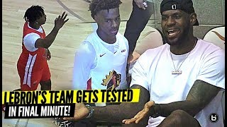 LeBron James COACHES Bronny & SFG TO SEAL THE DEAL IN FINAL MINUTES VS. ROSE CITY REBELS!!