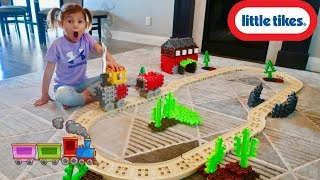 Waffle Blocks Steam Train Unboxing and Toy Review! Little Tikes
