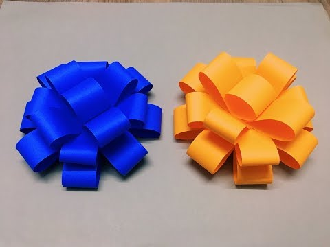 how-to-make---easy-paper-bow---step-by-step-|-handmade-craft