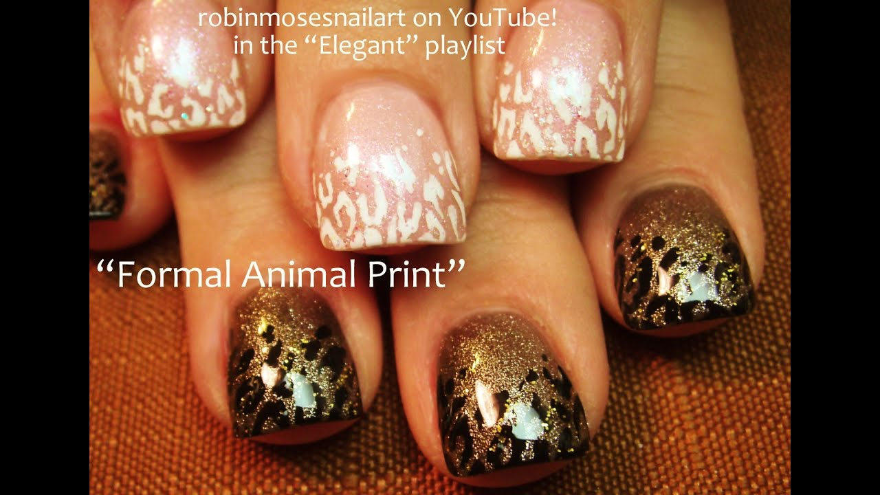 Leopard Print Nail Art Black And White Youtube