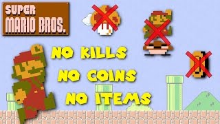 Super Mario Bros. - Pacifist, No Coins, No Items Run