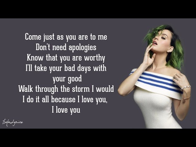 Unconditionally - Katy Perry (Lyrics)