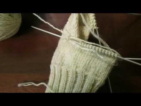 Как связать мужские носки 45 размера спицами видео