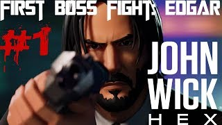 John Wick Hex gameplay , How to play , First Boss Fight :  Edgar