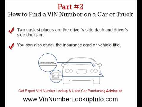 vin number lookup secrets revealed expert vin number check advice youtube. Black Bedroom Furniture Sets. Home Design Ideas