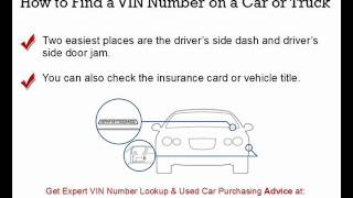 VIN Number Lookup Secrets Revealed | Expert VIN Number Check Advice